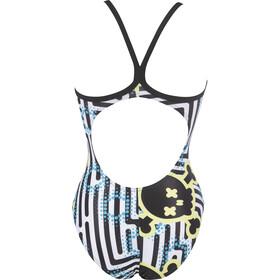 arena Crazy Labyrinth Light Drop Back Jednoczęściowy strój kąpielowy Kobiety, czarny/biały